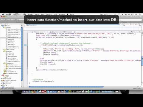 Inserting data in SQLite database Xcode tutorial part 2
