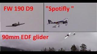 getlinkyoutube.com-Focke Wulf 190 D9 - 90mm EDF Glider - Sonic .25 - SpotiFly - Lots of flying