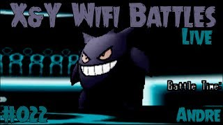 getlinkyoutube.com-Pokemon X and Y Wifi Battle #022 (Live) Vs. Andre - Gengar, The Show Stoppa!