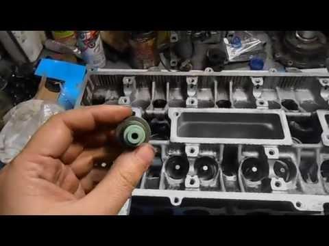 Как ставить, замена, сальники клапанов (маслосъёмные колпачки) по цветам. Ремонт двигателя.