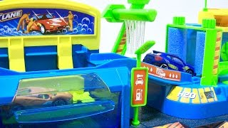 Cars for Kids / Fast Lane / Color change Car Wash Playset / Fun TOY Cars for Kids  カーウォッシュ プレイセット開封