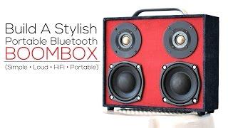 getlinkyoutube.com-Build A Bluetooth Boombox Speaker (from scratch)