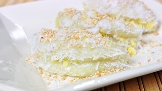 getlinkyoutube.com-Thai Dessert - Sticky Rice Balls with Bean Filling (Tua Pap)