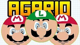 getlinkyoutube.com-Agario (Agar.io) Mods FR #4 | SKIN DE MARIO ET LUIGI!