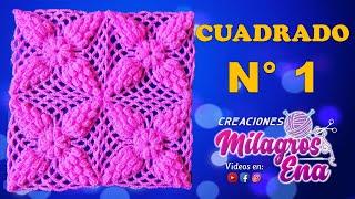 getlinkyoutube.com-Cuadro a crochet # 1 en punto popcorn paso a paso