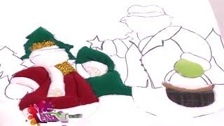 getlinkyoutube.com-Como hacer un Cuadro de Navidad en Icopor y Paño Lenci- Hogar Tv  por Juan Gonzalo Angel