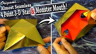 getlinkyoutube.com-Almost Seamless 4-Point 3-D Star & Monster Mouth!