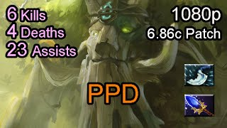 getlinkyoutube.com-Ppd Treant Protector 6.86 patch Ranked Full Game