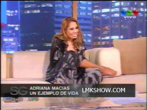 Adriana Macias, la mujer sin brazos, visito a Susana Gimenez