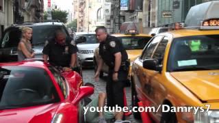 getlinkyoutube.com-Ferrari 458 Spider Runs Over Cop