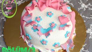 getlinkyoutube.com-Şeker Hamurlu Pasta Yapımı/Bölüm 3(Şeker Hamuru ile kaplama ve süsleme)