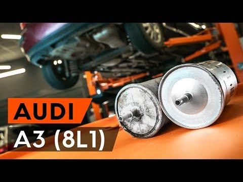 Как заменить топливный фильтр на AUDI A3 1 (8L1) [ВИДЕОУРОК AUTODOC]