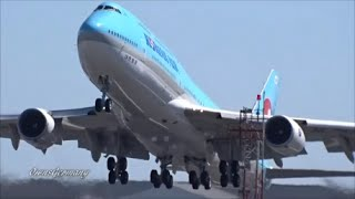 getlinkyoutube.com-1st Korean Air Boeing 747-8i HL7630 Delivery Flight Engine Startup + TakeOff @ KPAE Paine Field