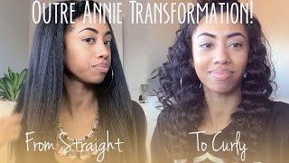 getlinkyoutube.com-UPDATE: Outre Annie Half Wig Flexi-Rod Dip Curls