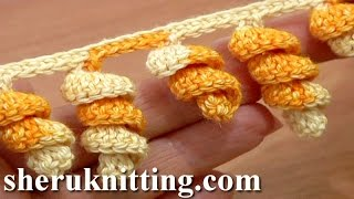 getlinkyoutube.com-Crochet Spiral Edging Tutorial 1 Crochet Spiral Fringe