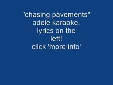 chasing pavements adele karaoke