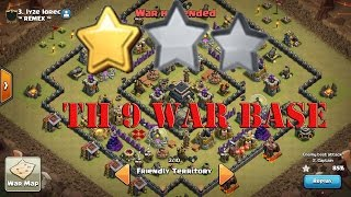 getlinkyoutube.com-Clash Of Clans : TH 9 (Town Hall 9) War Base Anti 2 Star With Replays