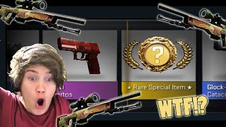 ACCIDENTAL KNIFE PULL! - DURING 10 COBBLESTONE PACKAGES - (Trying to Pull Souvenir Dragonlore)