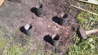 getlinkyoutube.com-Установка улья на пластиковых трубах