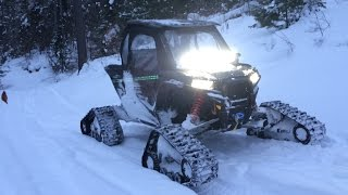 getlinkyoutube.com-Deeper Snow Polaris Rzr 1000 Tatou 4s Tracks