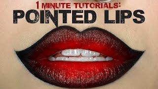 getlinkyoutube.com-1 Minute Makeup Tutorial: Overdrawn Pointed Lips