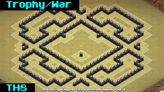 getlinkyoutube.com-Clash Of Clans | Epic TH8 Trophy/War + Replay 2014 [Castle]