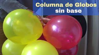 getlinkyoutube.com-como hacer columna de globos sin base