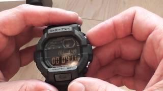 getlinkyoutube.com-Casio Men's GD350-1B G-Shock Black Watch unboxing