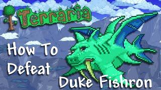 "getlinkyoutube.com-Terraria iOS/Android 1.2.4 (OLD) - How To Defeat Duke Fishron ""Melee Loadout"""