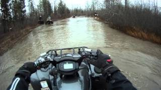 getlinkyoutube.com-2016 Yamaha Grizzly + Can-Am's Mudding. ACTION STARTS AT 4 MINUTES IN