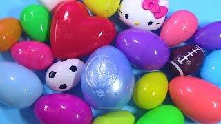 getlinkyoutube.com-Surprise Eggs Opening   Hello Kitty Frozen MLP LPS Shopkins Palace Pets