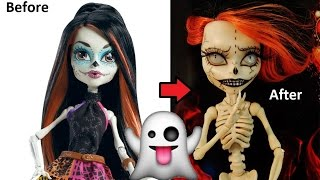 getlinkyoutube.com-Ooak Custom Repaint SKELITA CALAVERAS Monster High Halloween Edition