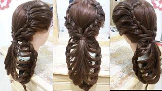 getlinkyoutube.com-peinados faciles rapidos y bonitos con trenzas de moda para niña en cabello largo y mediano 2016
