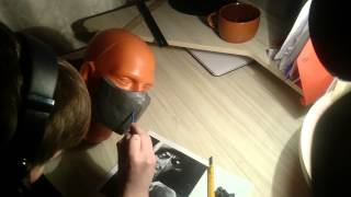 getlinkyoutube.com-DIY- Mortal Kombat X Scorpion mask (part 1)
