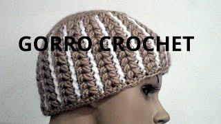 getlinkyoutube.com-Gorro Abanico mujer en tejido crochet tutorial paso a paso.