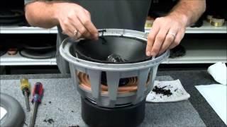 getlinkyoutube.com-JL 12W7 Speaker Subwoofer Repair Foam Edge Replacement