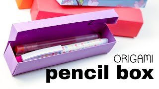 getlinkyoutube.com-Origami Pencil Box Tutorial ♥︎ DIY ♥︎