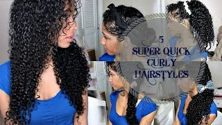 getlinkyoutube.com-5 SUPER QUICK CURLY HAIRSTYLES