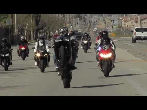 Insane street bike stunts - K-N-S - Top Notch Ridahz - directed by Edward Mendoza