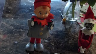 Bad elf on the shelf is MEAN to Giant Baby!!!