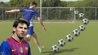 getlinkyoutube.com-Messi, Suarez, Ronaldinho & Beckham Free Kick Tutorial - Curve A Football Tutorial by iFootballHD