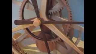Epicyclic Wooden Clock