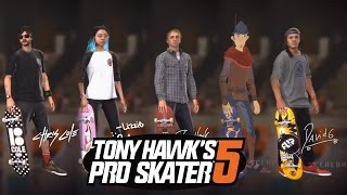 getlinkyoutube.com-Tony Hawk's Pro Skater 5 - All Skater Characters and Maps (SHOWCASE)