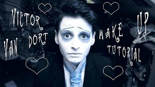 getlinkyoutube.com-Victor Van Dort 💀  Make Up Tutorial
