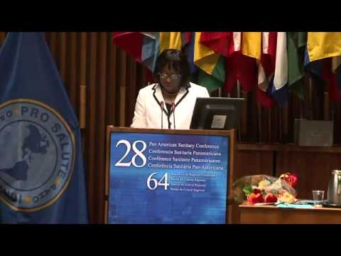 MAGNUMMAXIM: Dr Carissa Etienne, Director-elect of PAHO, 2013-2018 W.H.O. WORLD HEALTH ORG.