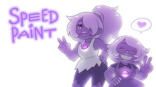 getlinkyoutube.com-Steven Universe - 'Two Versions of Amethyst' Speedpaint
