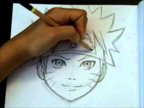Naruto Uzumake desenho em grafite