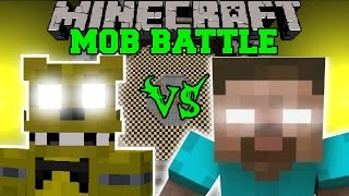 getlinkyoutube.com-GOLDEN FREDDY VS HEROBRINE - Minecraft Mob Battles - Minecraft Mods