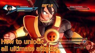 Dragon Ball Xenoverse All Ultimate Attacks