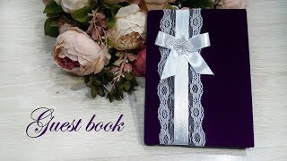 How To Make Wedding Guest Book Very Easy, DIY